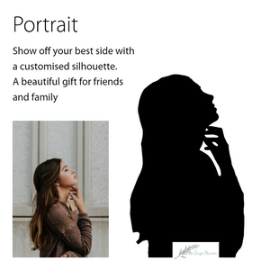 details of creating your own portrait silhouette