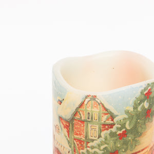 details of Decorative LED Holiday Candle - Christmas Tabletop Decor - the sage haven, ireland