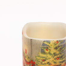 Load image into Gallery viewer, details of LED Christmas Candles - Santa & Puppy Decorative Candle - the sage haven, ireland