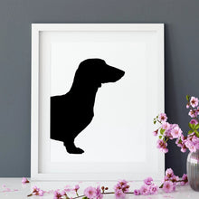 Load image into Gallery viewer, Custom Pet Portrait - Personalised Gifts For Dog Lovers - Dachshund Silhouette - the Sage Haven, Ireland