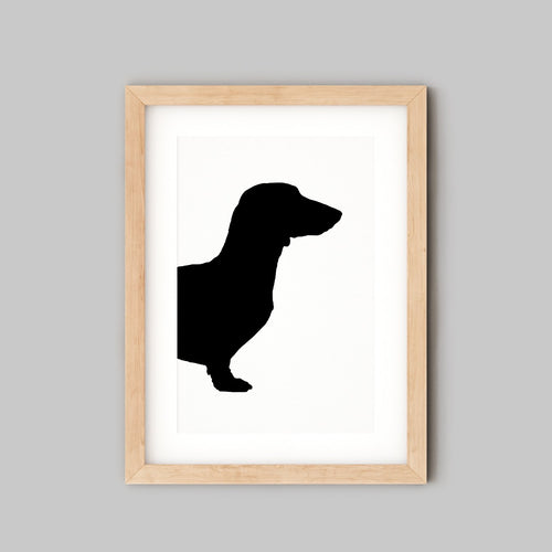 Custom Pet Portrait - Gifts For Dog Owners - Dachshund Silhouette - the Sage Haven, Ireland