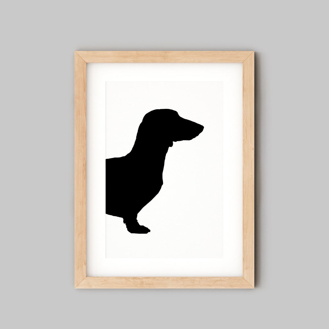 Custom Pet Portrait - Personalised Gifts For Dog Lovers - Dachshund Silhouette - the Sage Haven, Ireland