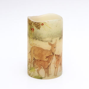 deer family flameless candle - the sage haven, ireland