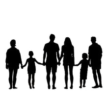 Load image into Gallery viewer, silhouette of 6 people family