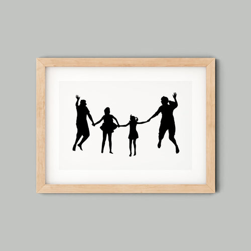 Personalised Family silhouette in frame