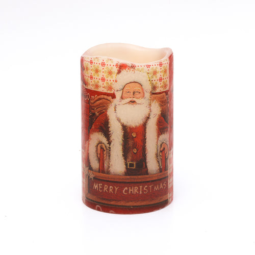 Santa Candle - Father Christmas Decorations - the sage haven, ireland