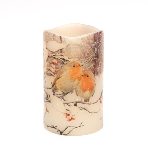 LED Robin Candle - Winter Home Decor - the sage haven, ireland