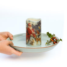 Load image into Gallery viewer, woodland animals flameless candle on plate - the sage haven, ireland