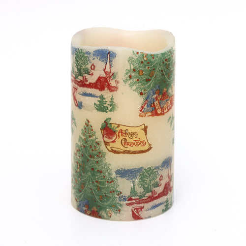 Seasonal Candle - Vintage Style Decorative LED Candle - the sage haven, ireland