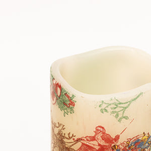 details of Seasonal Candle with vintage style design - the sage haven, ireland