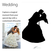 Load image into Gallery viewer, details of wedding silhouette art