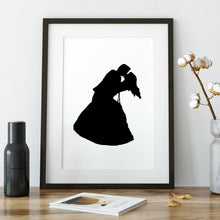 Load image into Gallery viewer, framed silhouette of couple dancing
