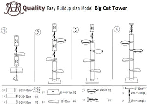 Big Cat Tower Beige