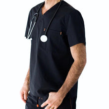 Load image into Gallery viewer, Onyx Black Tek Top - Medical Scrubs