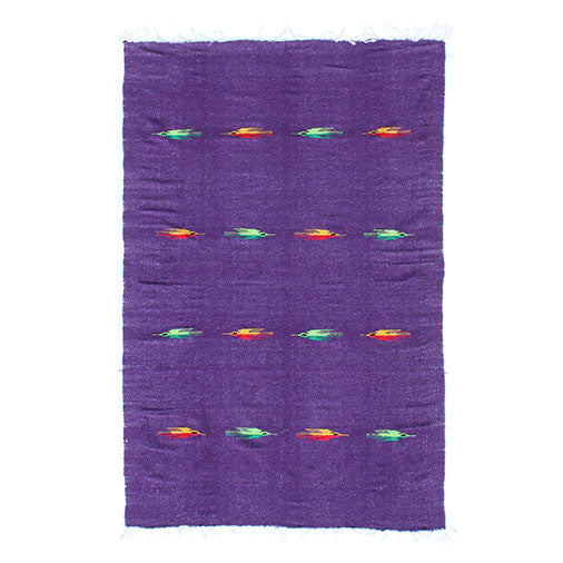 Mexican Yoga Rug: Thunderbird Purple - Colours of Mexico