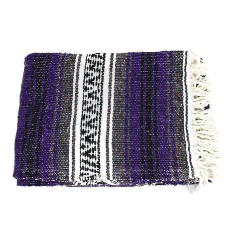Mexican Western Yoga Falsa Blanket Dark Lavander & Grey