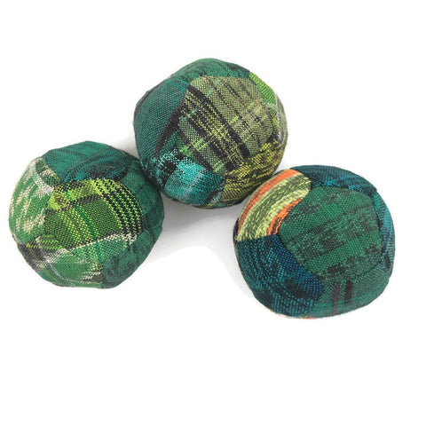 Hacky Sacks - Juggling Balls: Footbag Hippy Green Coloured - Colours of Mexico