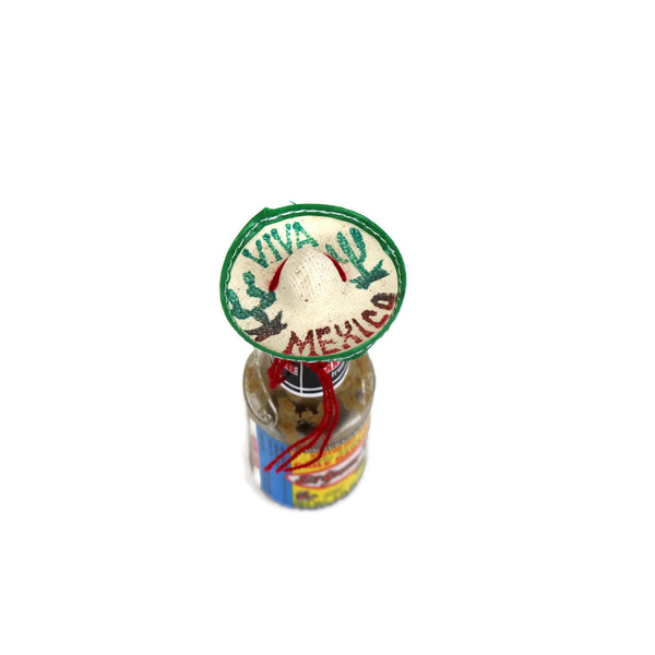 Mexican mini straw sombrero (set of 4) - Colours of Mexico