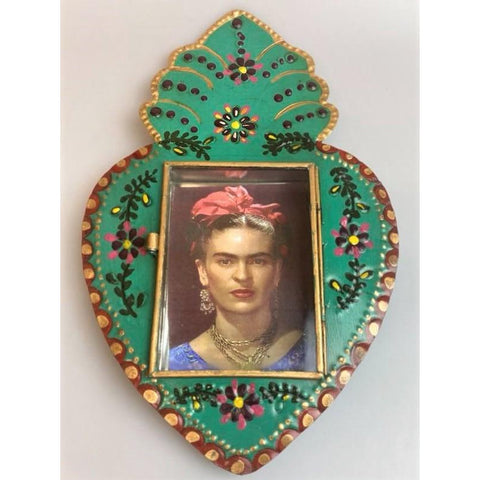 Mexican Frida Nicho Tin Hand painted - Limited Edition-