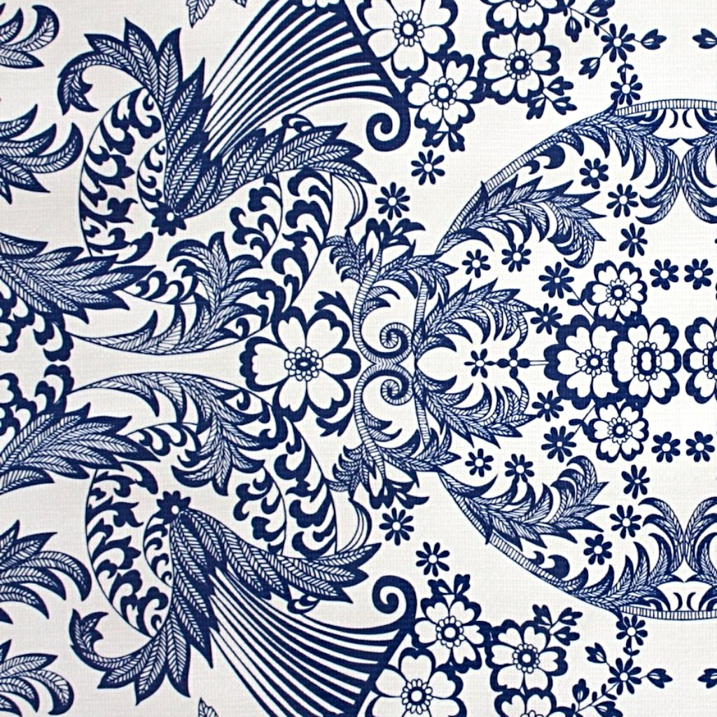 Mexican Oilcloth Fabric Blue Eden - Colours of Mexico