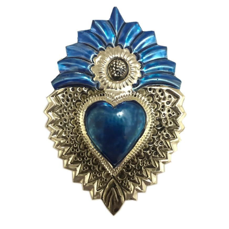 Mexican Tin Hearts - in Blue Theme