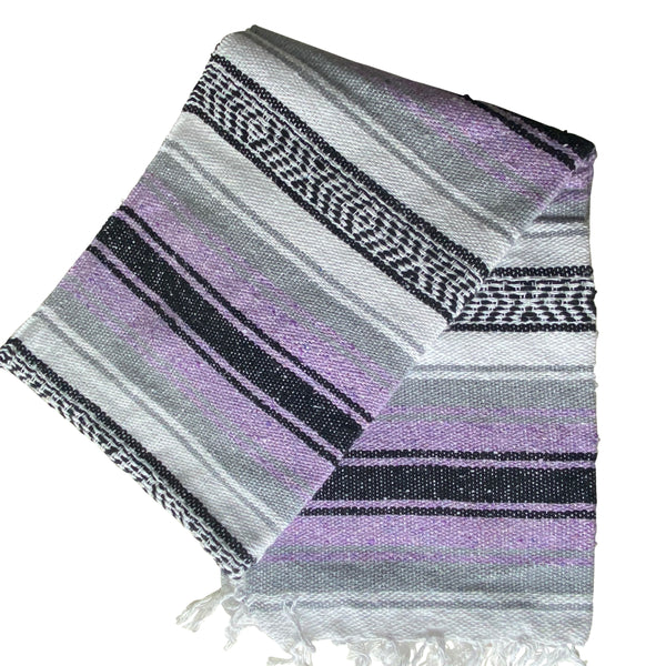 Mexican Western Yoga Falsa Blanket Orchid & Grey