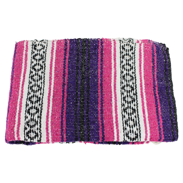Mexican Western Yoga Falsa Blanket Purple and Pink - Colours of Mexico