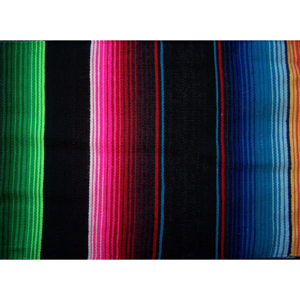 Black Mexican Sarape Blanket - Colours of Mexico