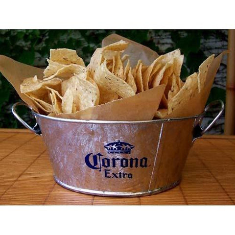Corona galvanised chip bucket - Colours of Mexico