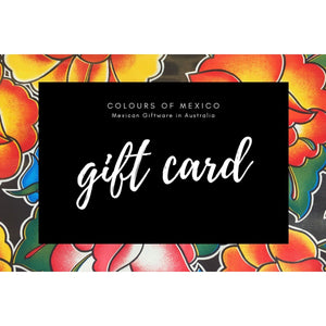 Gift Cards Voucher Certificates - Choose any amount - Colours of Mexico