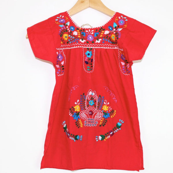 Kids: Mexican Bohemian Dress Red - Colours of Mexico