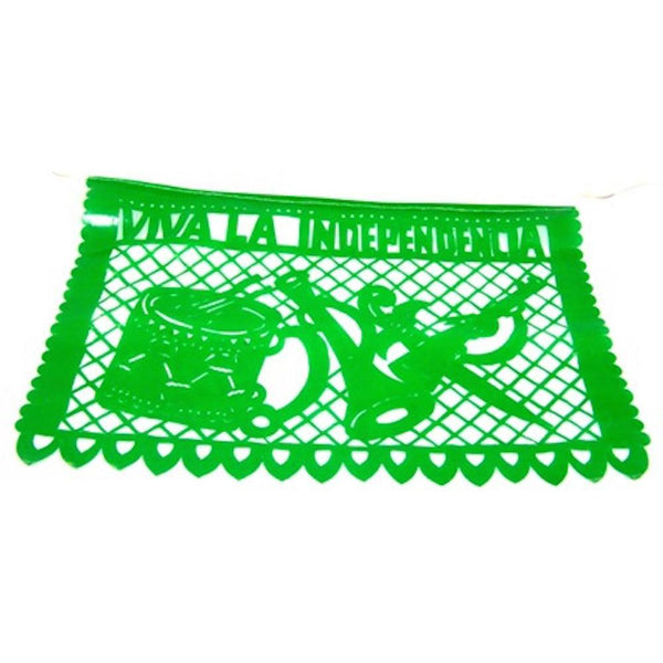Mexican Bunting - Papel Picado 5 de Mayo Party - Mexican Flag (Green, White & Red) - Colours of Mexico