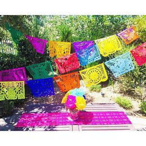 Mexican Bunting - Papel Picado - Fiesta Party (Multicoloured) - Colours of Mexico
