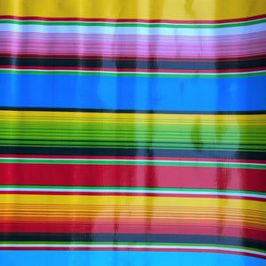 Mexican Oilcloth Fabric Sarape Blanket Pattern