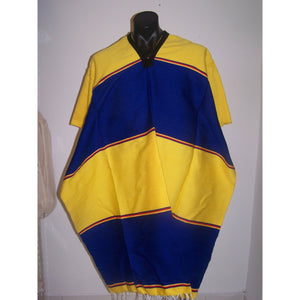 Mexican Poncho Blue & Yellow - Colours of Mexico