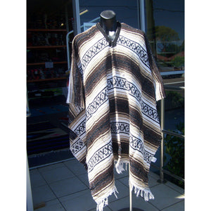 Mexican Poncho Western Clint Eastwood Classic Brown - Colours of Mexico