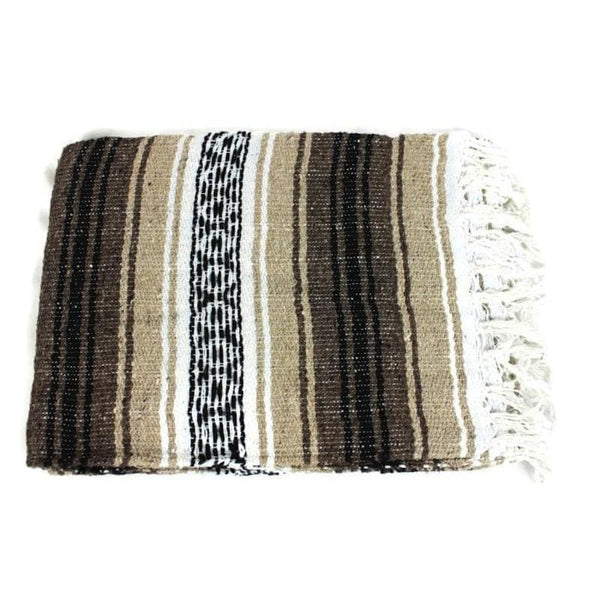 Mexican Western Yoga Falsa Blanket All Brown