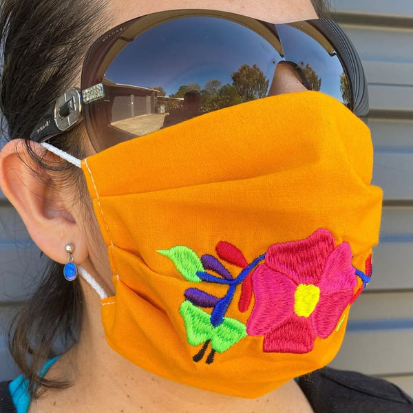 NEW: Embroided Reusable Mask - Made in Mexico