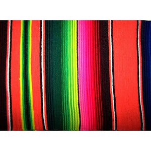 Orange Mexican Sarape Blanket - Colours of Mexico