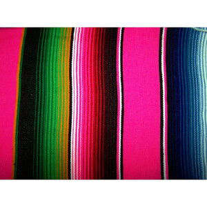Pink Mexican Sarape Blanket - Colours of Mexico