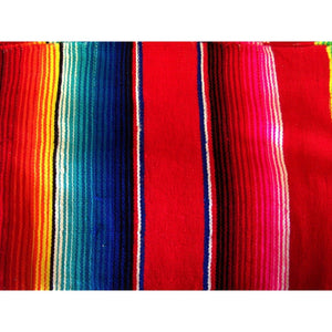 Red Mexican Sarape Blanket - Colours of Mexico