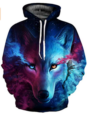 2fa05306f093 SAINDERMIRA Unisex Fashion 3D Digital Galaxy Pullover Hooded Hoodie  Sweatshirt Athletic Casual with Pockets