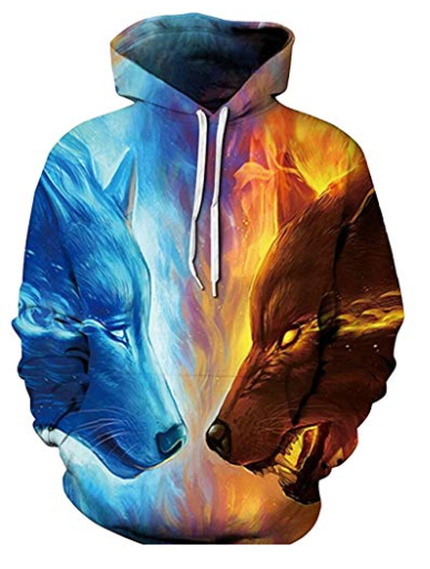 d5cf800e0fbf SAINDERMIRA Unisex Fashion 3D Digital Galaxy Pullover Hooded Hoodie  Sweatshirt Athletic Casual with Pockets