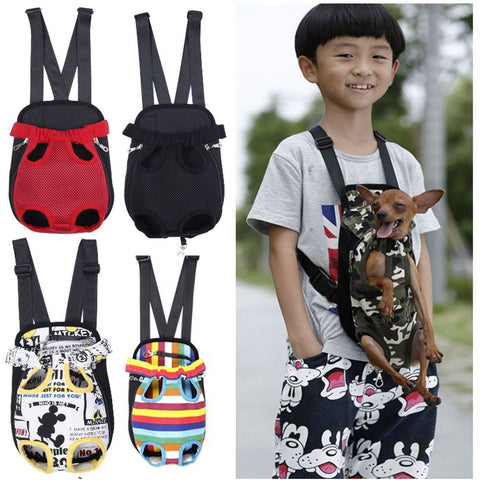 Five Holes Chest Dog Carrier Backpack