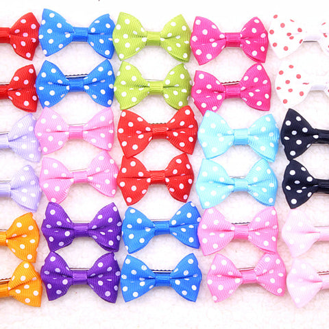 Handmade Mixed Designs Bow Hair Clips