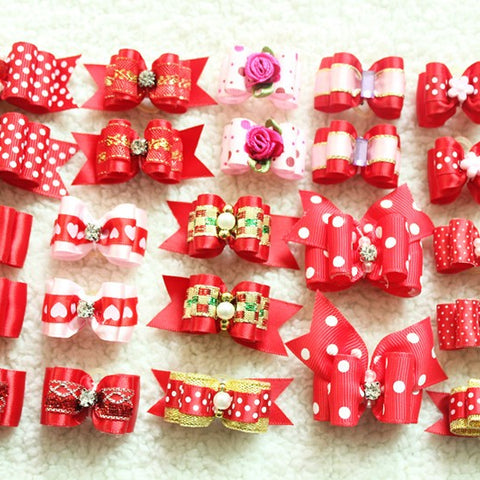 Various Pattern Bows (10 pcs)