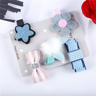 Hair Clips Bows --- Handmade
