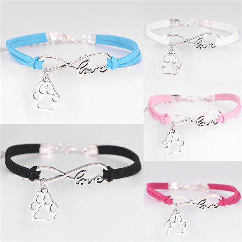 Fashion Charm Pet Dog & Cat Lover Infinity Bracelet NEW