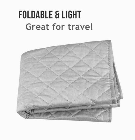 """Use on Top of Washer//Dryer or Any Flat Space! Instant Ironing Board for Small Space Living 33 x 19/"""" Quilted Magnetic Ironing Mat Transforms Any Metallic Surface into an Ironing Board"""