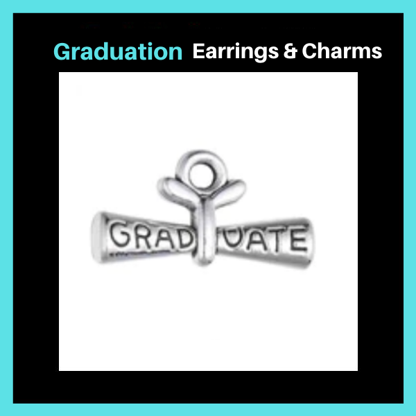 Graduation Earrings & Charms